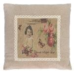"cushion ""Flower Girl Postcard"""
