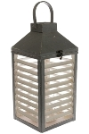 "wooden lantern white / grey big ""Agda"""
