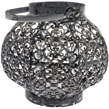 """round metal lantern """"Meltem"""""""