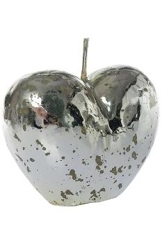 Herzkerze in silber