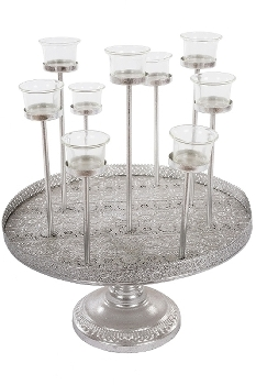"metal tray / tealights ""Muki"""