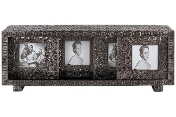 "metal picture frame set of 3 ""Hazine"""