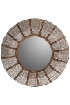 "metal / wood mirror ""Amira"", round"