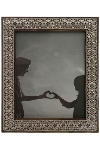 "metal /wood picture frame ""Ebru"""