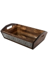"metal /wood tray ""Nassar"", with mirror, big"