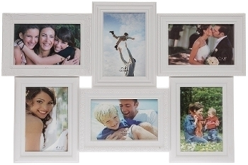 """plastic picture frame """"Yliana"""", white"""