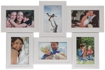 "plastic picture frame ""Yliana"", white"