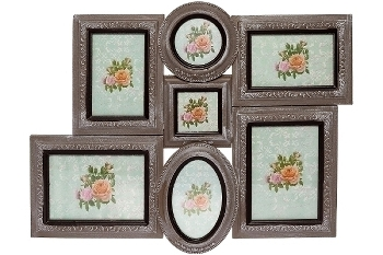 "MDF Family photoframe ""Edda"", beige antique"