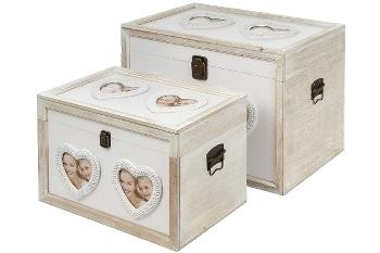 "wooden chests ""Samu"", set of 2"