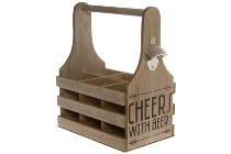 "Wooden bottle holder ""Bobby"""