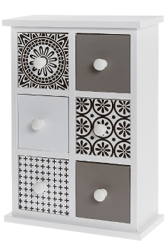 Mini sideboard with 6 drawers
