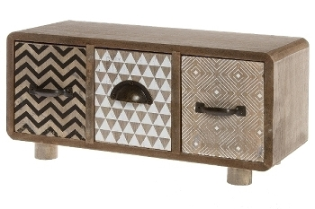 Mini sideboard with 3 drawers