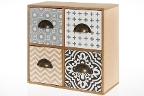 Mini sideboard with 4 drawers