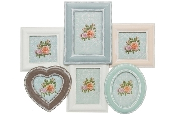 Multi picture frame for 6 pictures
