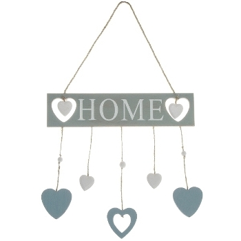 Decoration Lettering HOME - blue