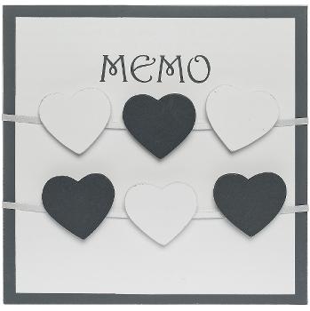 """wooden memo board """"Randi"""", with clips"""