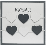 "wooden memo board ""Randi"", with clips"
