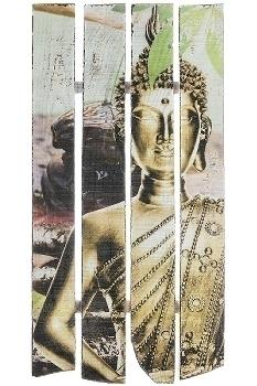 "wooden mural Buddha design ""Buddha Calm"""