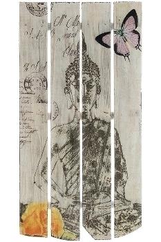 "wooden mural Buddha design ""Buddha Meditation"""