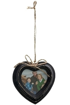 "heart picture wall frame ""Elin"", black antique"