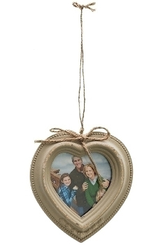 """heart picture wall frame """"Elin"""", brown"""
