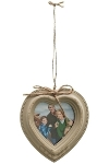 "heart picture wall frame ""Elin"", brown"
