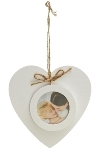 "heart wall frame ""Helga"" White"