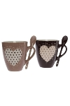 "set of 2 mugs with spoon ""Darun"""