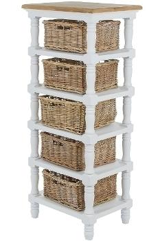 "rack ""Toscana"", with rattan baskets"