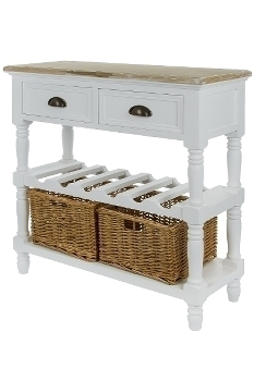 """console """"Toscana"""", with rattan baskets"""