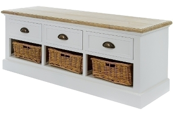 "bench ""Toscana"", with 3 drawers und 3 baskets"