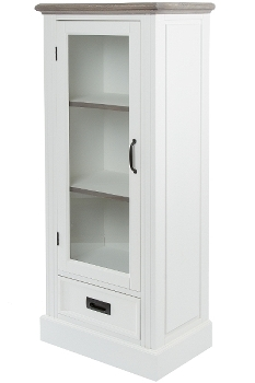 "glass cabinet ""Rita"", with drawer"
