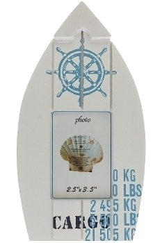 "photoframe ""Gustav"", in the shape of a ship"
