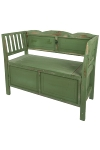 "bench ""Casper"",  with stowage,  green antique"