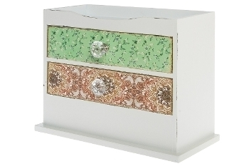 "vanity case ""Paisley"", with 2 drawers"