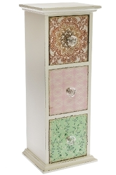 """vanity case """"Paisley"""", with 3 drawers"""