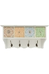 "wall hanging ""Paisley"", 4 drawers/hooks"
