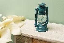 """LED lantern """"Teje"""", big, blue antique"""