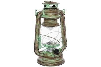 "LED lantern ""Teje"", big, green antique"