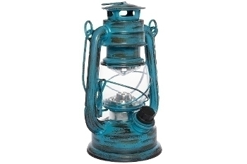 "LED lantern ""Teje"", small, blue antique"