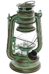 "LED lantern ""Teje"", small, green antique"