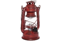 "LED lantern ""Teje"", small, red antique"