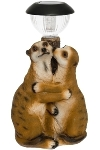 Deco meerkat couple + solar light