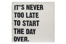 "cushion with filling ""Start the day over"""