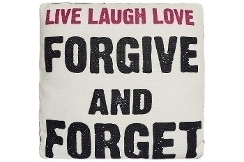 """cushion with filling """"Live Laugh Love"""""""