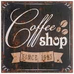 "wooden plate ""Coffee Shop"""