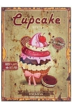"""wooden plate """"Cupcake I"""""""