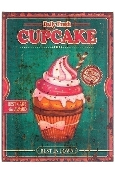 "wooden plate ""Cupcake II"""
