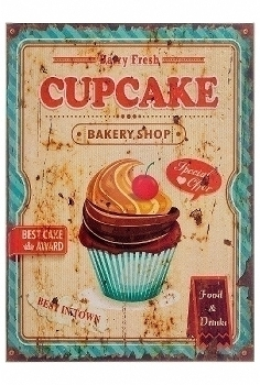 "wooden plate ""Cupcake III"""