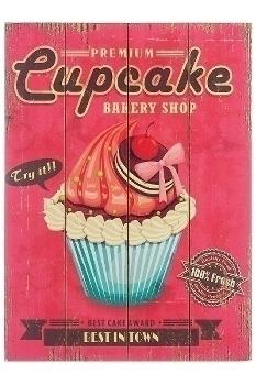"wooden plate ""Cupcake V"""